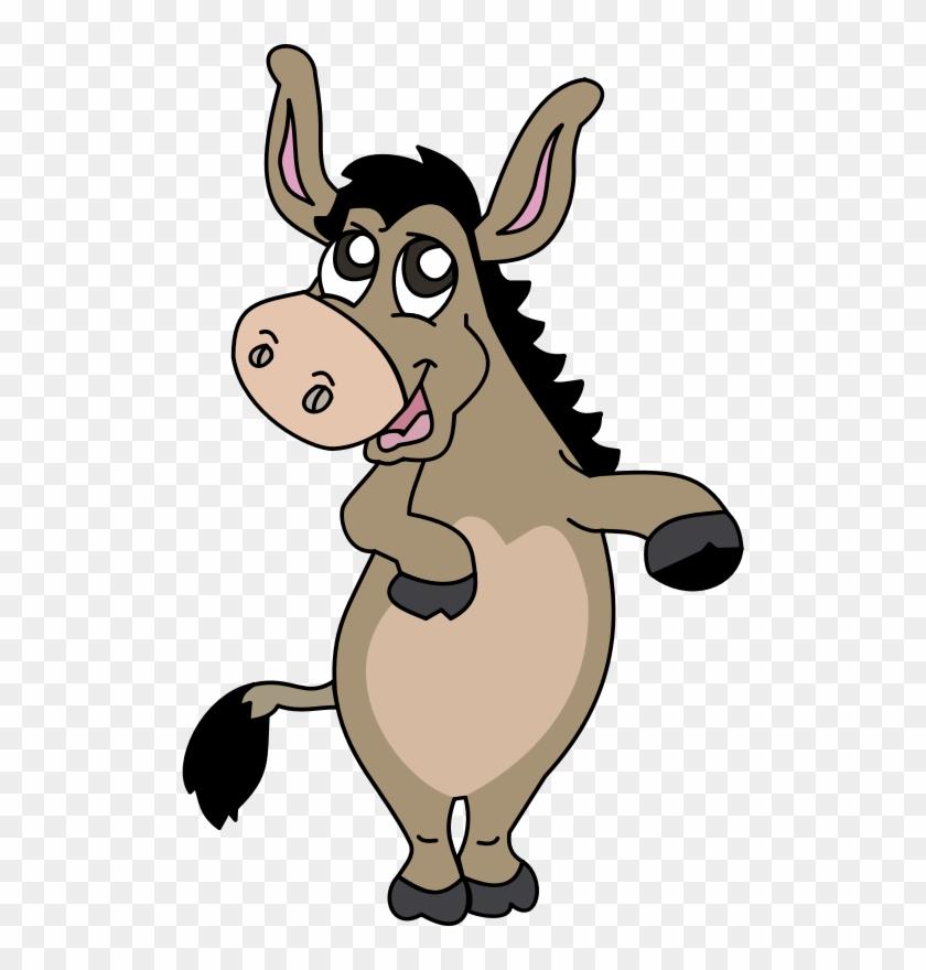 Free Cartoon Donkey Clip Art - Cartoon Donkey Standing Up #31240