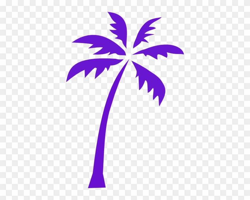 Palm Tree Silhouette Purple #31300