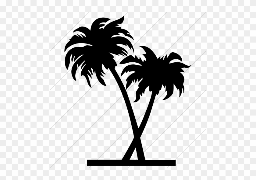 Pin Palm Tree Outline Clip Art - Palm Trees Icon Png #31305