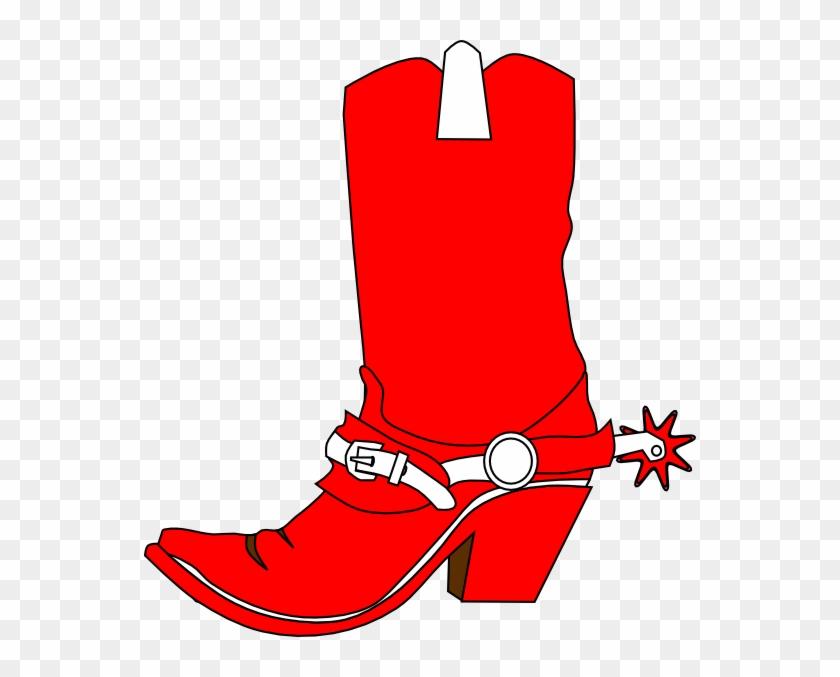 Clip Art Red Cowboy Boots #31332