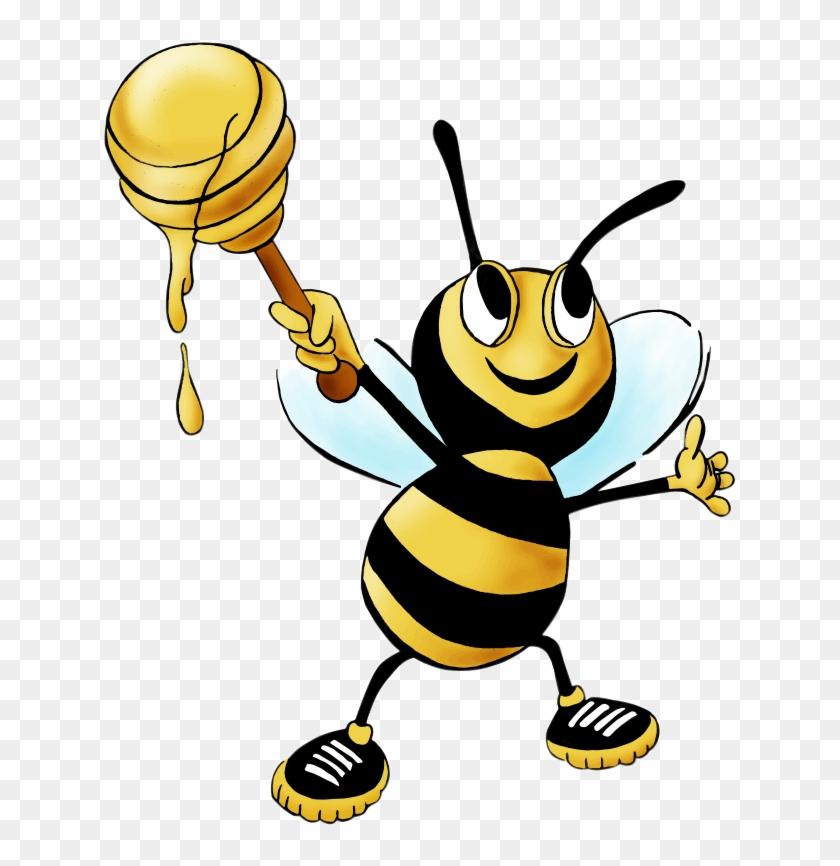 Free Cartoon Honey Bee Clip Art - Honey Bee Clip Art Free #31339