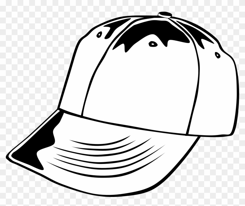 Hat Black And White Pirate Hat Clipart Free Png - Baseball Cap Clip Art #31368