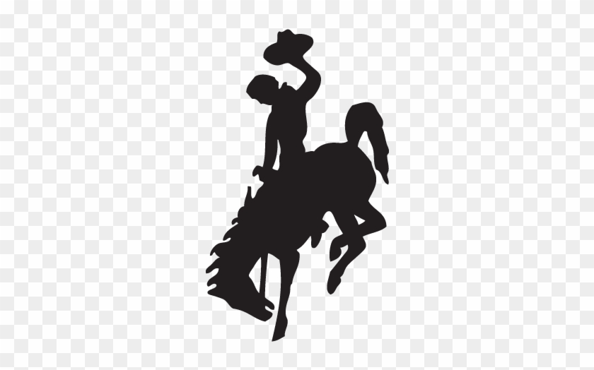 Bucking Horse Clip Art - Wyoming Cowboy Logo Vector #31422