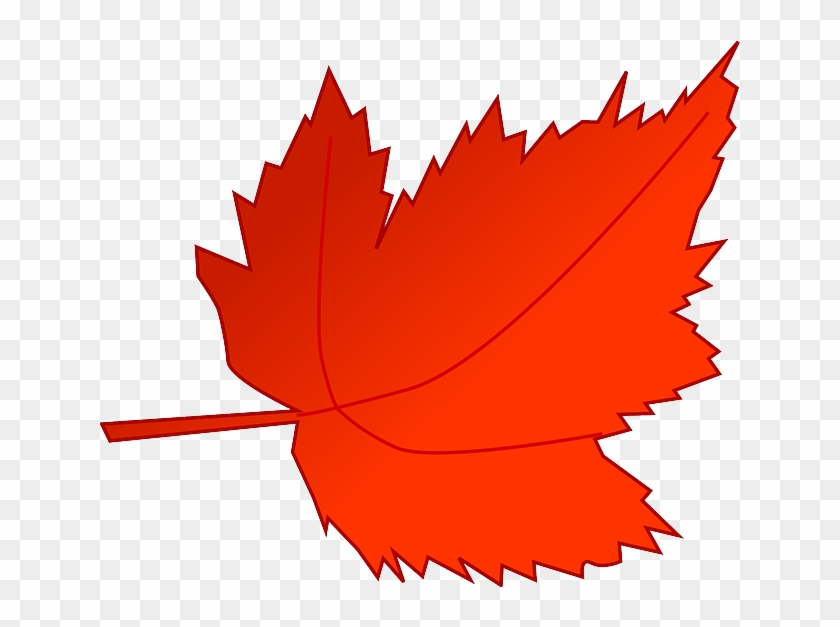 Autumn, Fall, Leaf, Red, Tree, Foliage, Greenery - Fall Leaf Clip Art #31426
