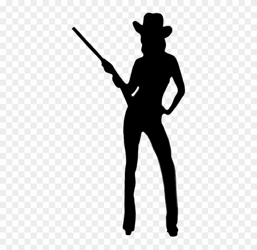 Silhouettes Of People - Cowgirl Silhouette Png #31427