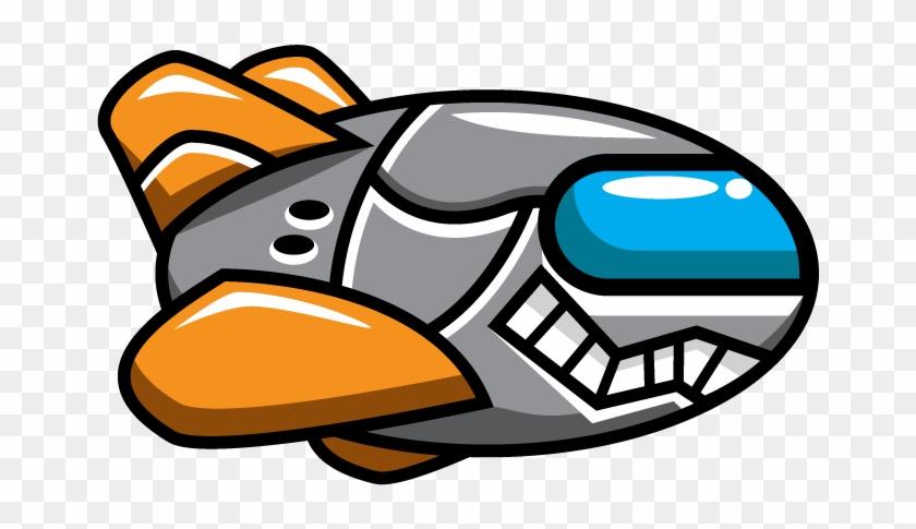 Free Cartoon Enemy Spaceship Clip Art - Spaceship Clipart #31526