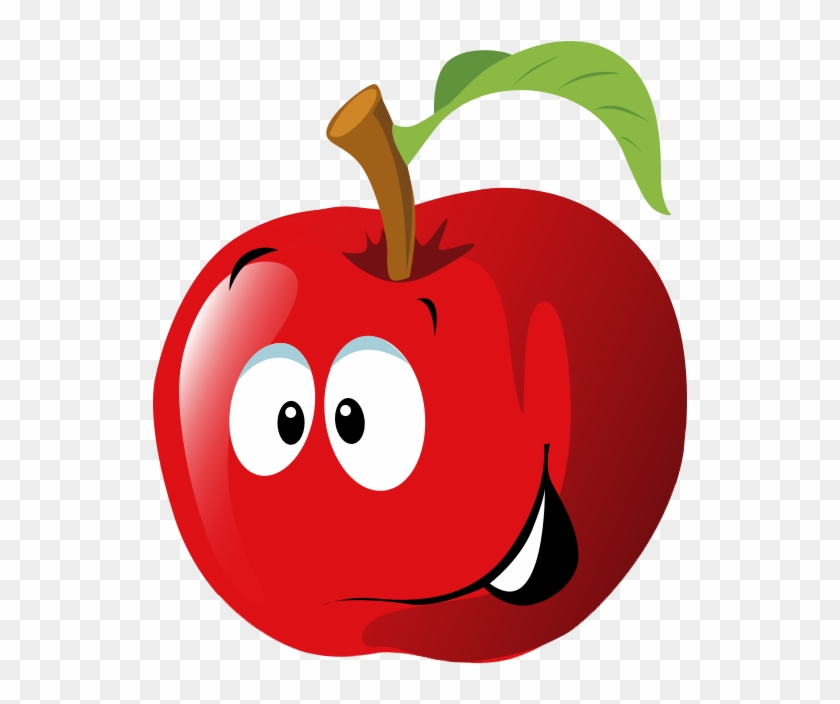 Free Cartoon Red Apple Clip Art - Apple Clip Art #31541