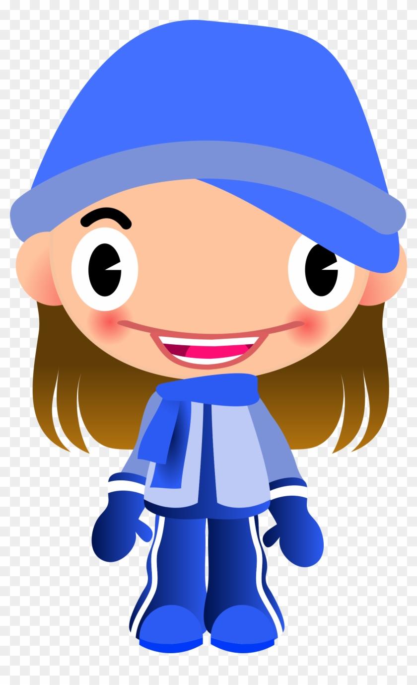 Warm Girl Clipart - Menina Com Frio Desenho #31576