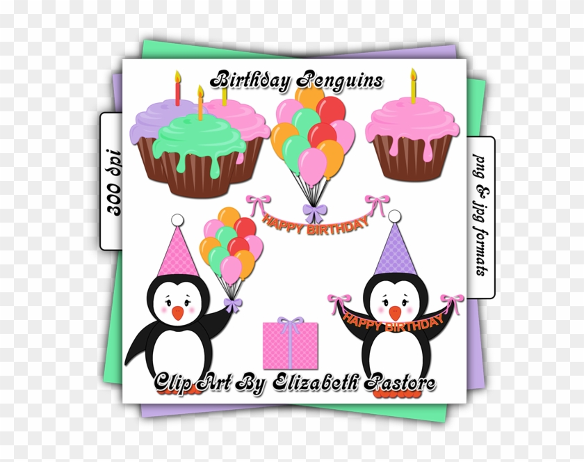 Ginger - Clipart - Backgorun Pinguin Birthday #31619