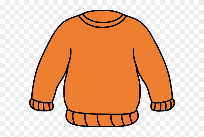 Orange Sweater - Sweater Clipart #31638
