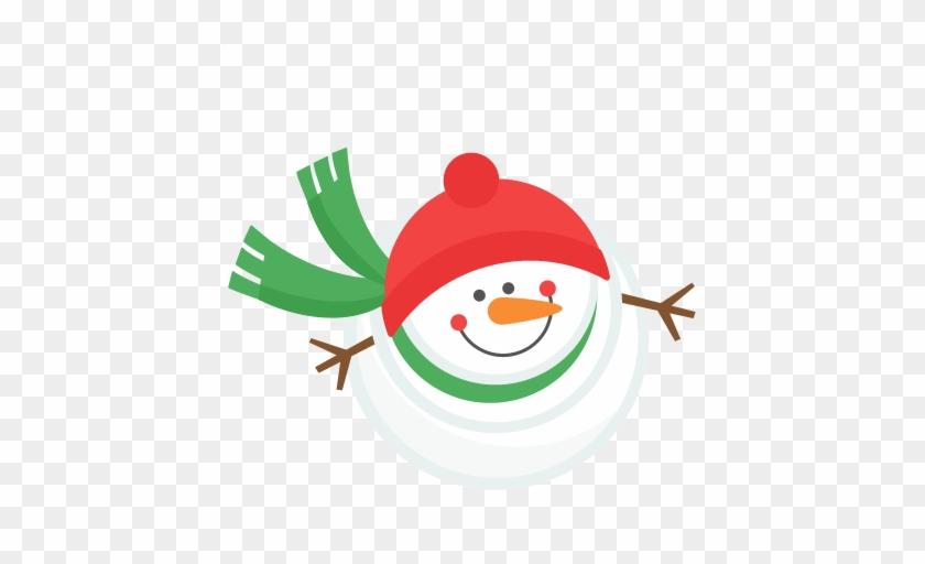Snowman Winter Svg Scrapbook Cut File Cute Clipart - Miss Kate Cuttables Snowman #31656