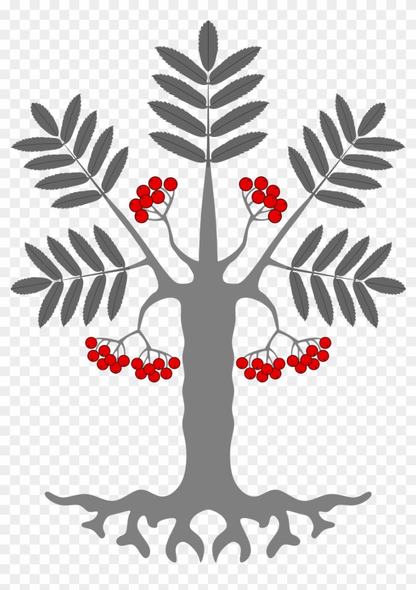 Open - Fruit Tree Hook Earrings, Women's, Pale Blue / Crimson #31657