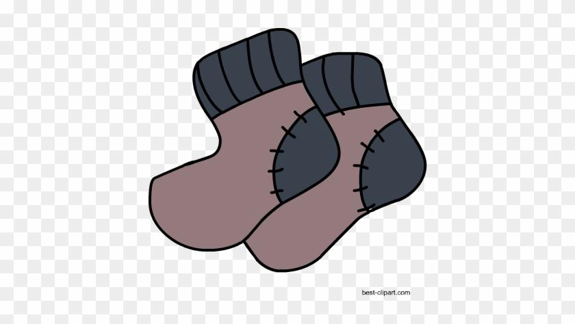 Cute Pair Of Socks, Free Winter Clip Art - Calcetines Para Baby Shower #31673