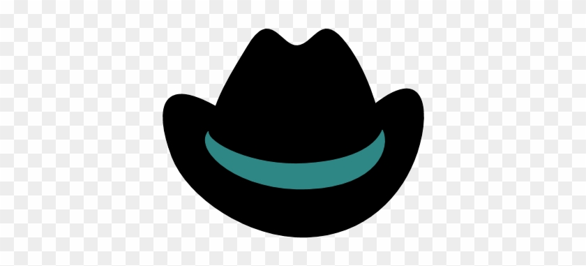 Cowboy Hat Clipart - Black Cowboy Hat Transparent Background #31688