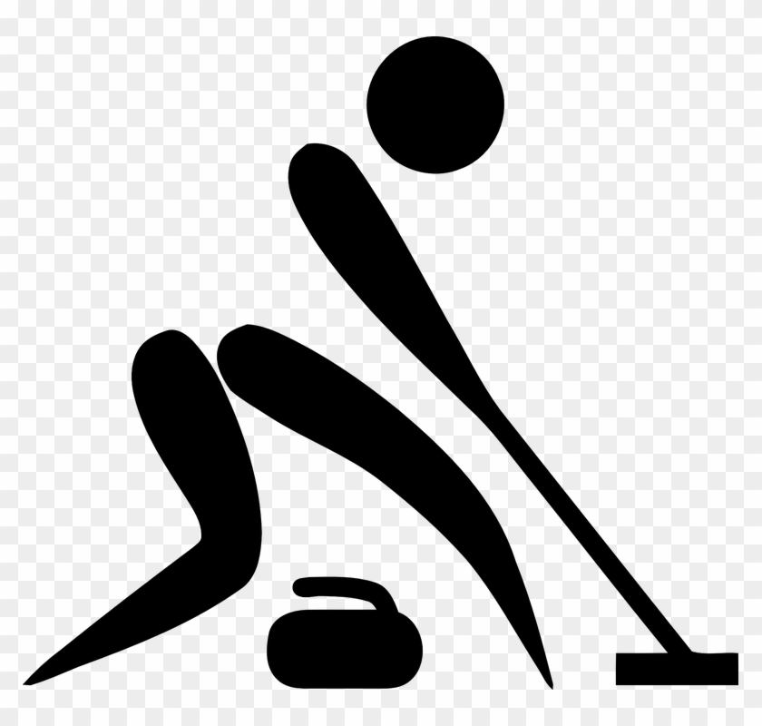 Curling, Sports, Pictogram, Olympics - Winter Olympic Sports Clipart #31695