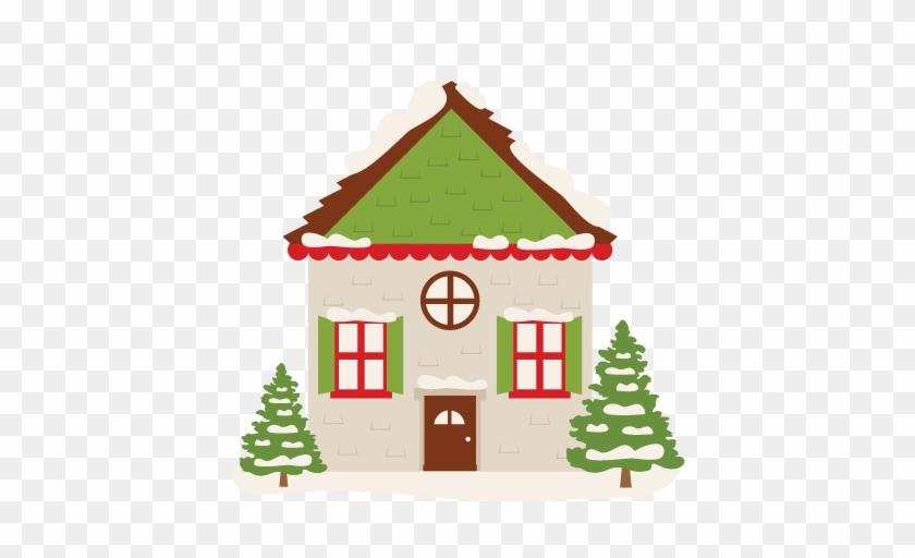 Winter House Svg Scrapbook Cut File Cute Clipart Files - Winter House Clipart #31710