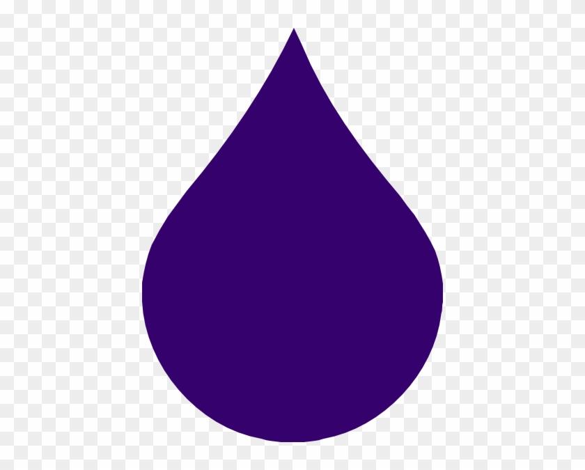 Rain Drop Clipart Free - Purple Raindrop Clipart #31761