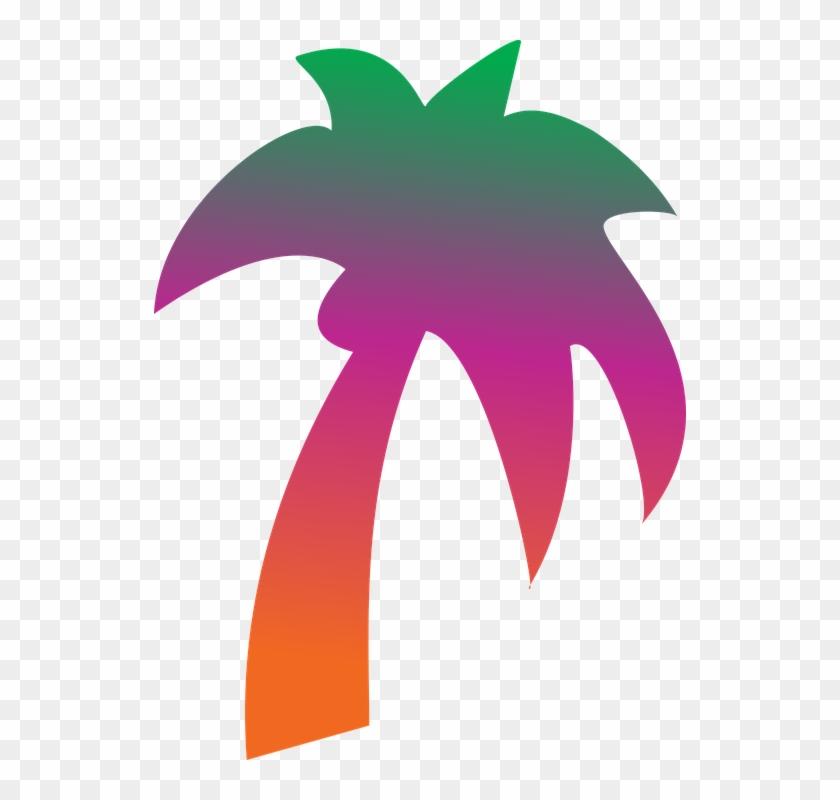 Coconut, Tree, Rainbow - Palm Tree Clip Art #31816