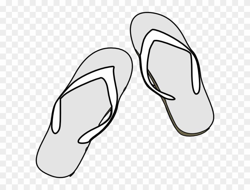 One Flip Flop Outline Download One Flip Flop Outline - Clip Art #31818