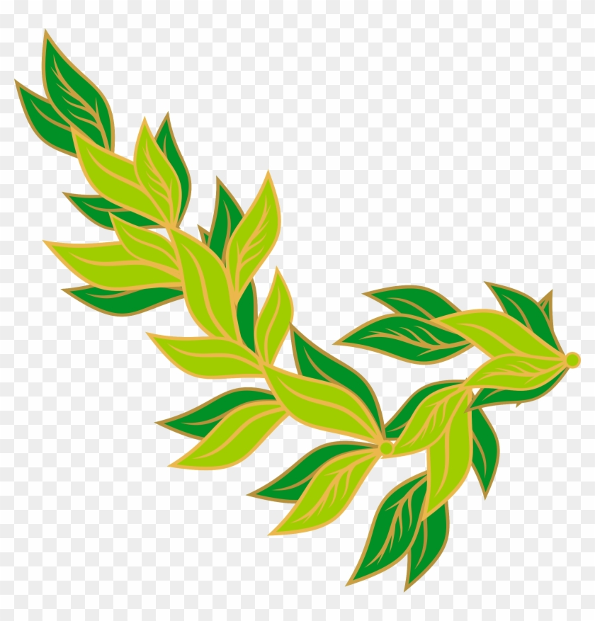 Stem Clipart Leaf - Green Leaves Border Clip Art #31831