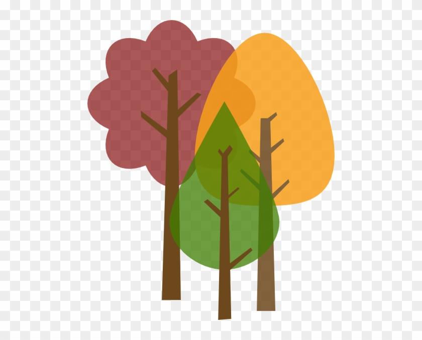 Fall Trees Clipart - Autumn Tree Clipart Transparent #31836