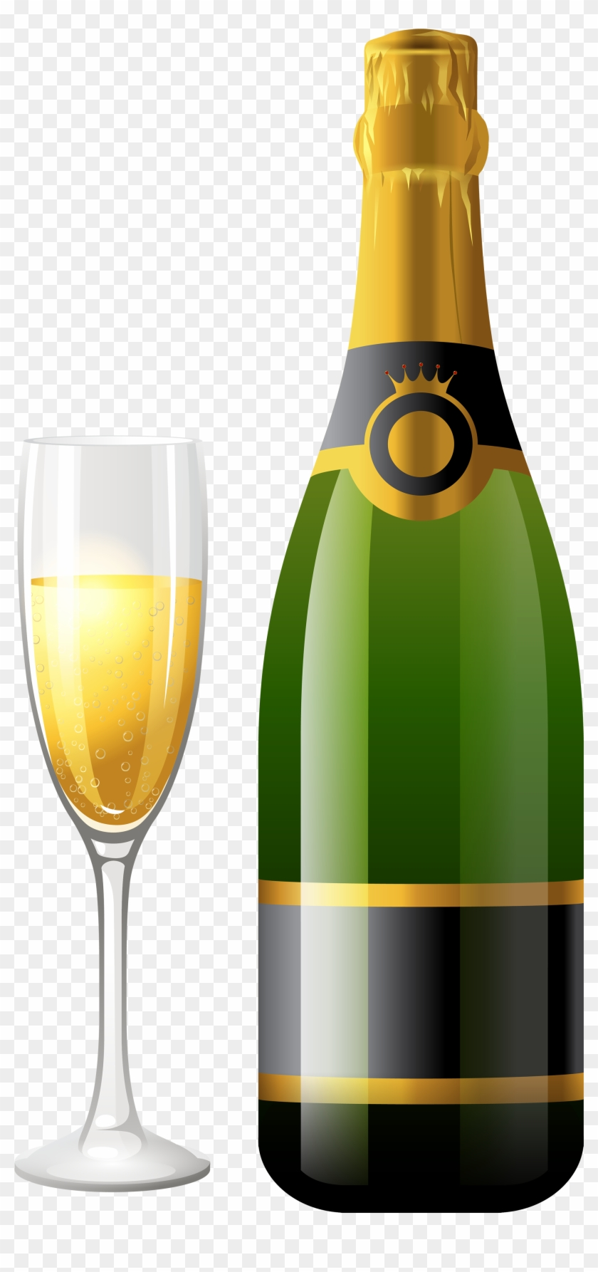 Champagne Bottle With Glass Png Clipart Best Web Clipart - Champagne Png #31916