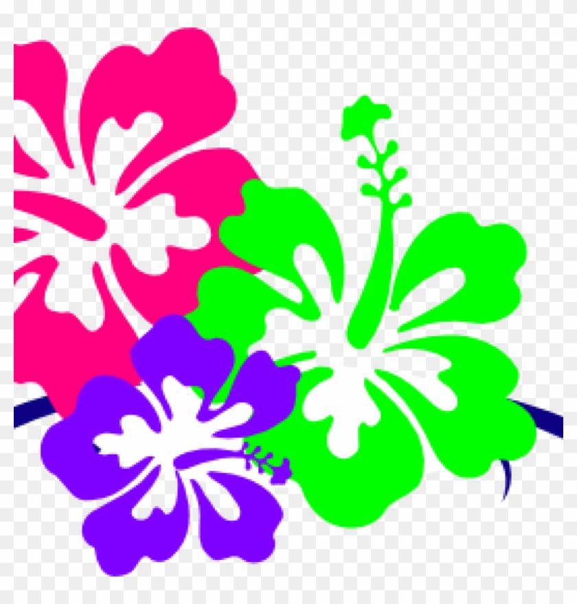 Hawaiian Flower Clipart Hawaiian Flower Clip Art Borders - Hawaii Flower #31934