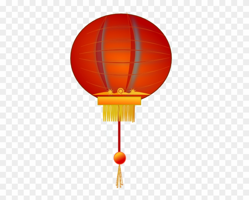 Paper Lantern Clip Art At Clker - Chinese Lantern Clipart Png #31958