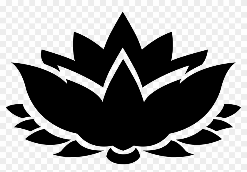 Lotus Flower Silhouette Icons Png - Lotus Flower Vector Png #31977