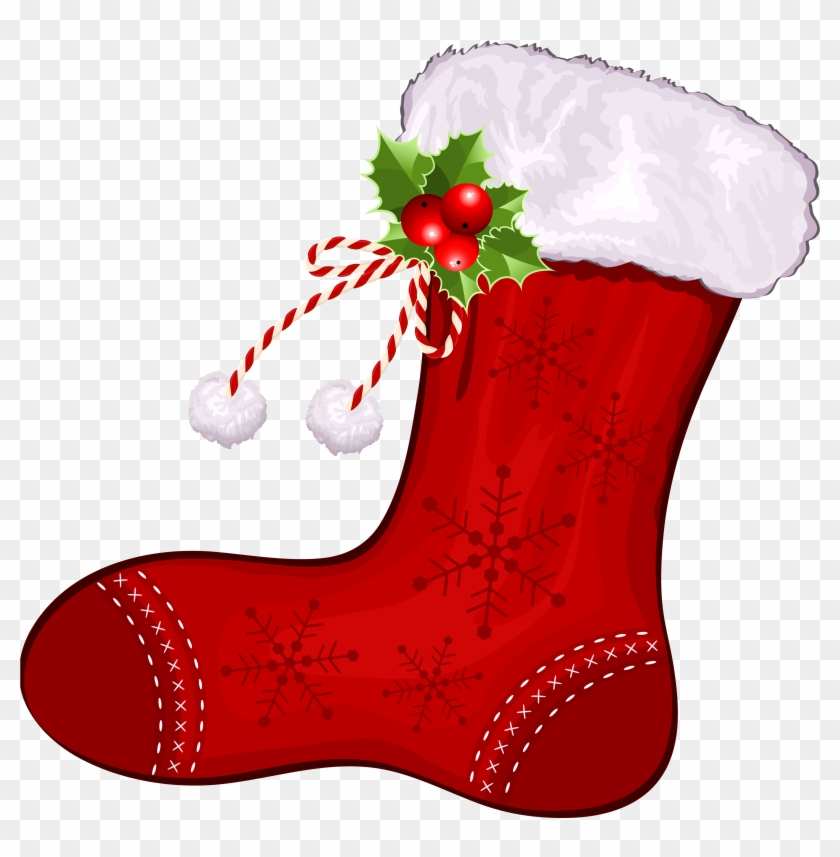 Mini Xmas Stocking - Christmas Stocking Clipart Free #32006