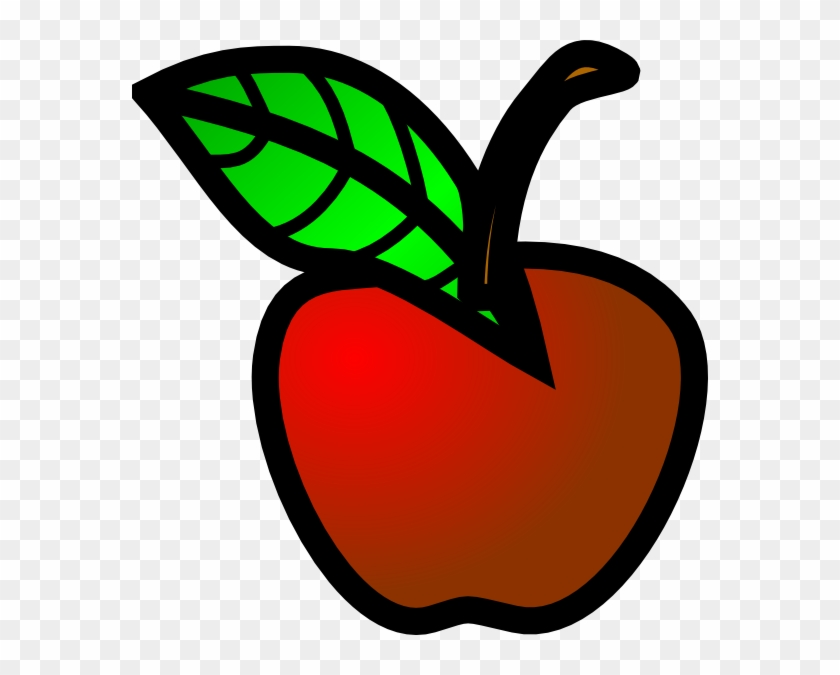 Small Red Apple Clip Art At Clker Com Vector Online - Small Clipart #32010