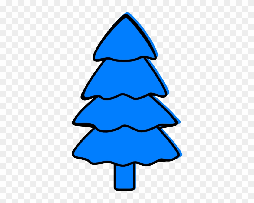 Blue Pine Tree Clipart #32061