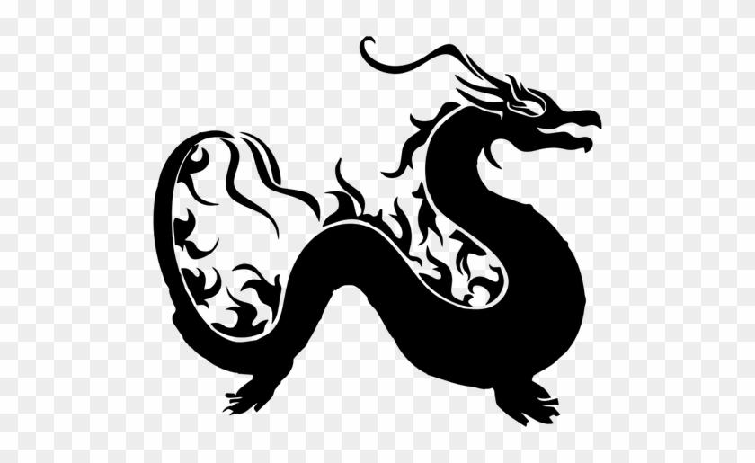 6987 Chinese Dragon Silhouette Clip Art Public Domain - Dragon Clipart #32076
