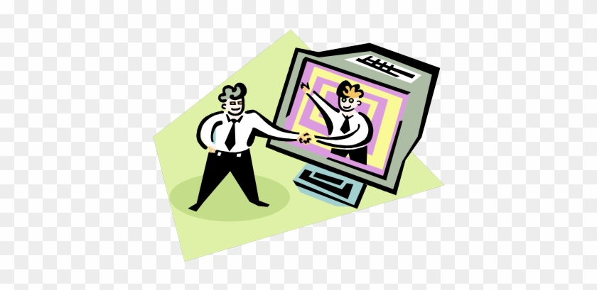 Computer Clipart Microsoft - Computer Chat Clipart #32146