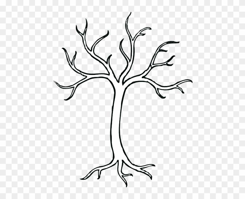 Tree Branch Trunk Clip Art - Bare Tree Clip Art #32158