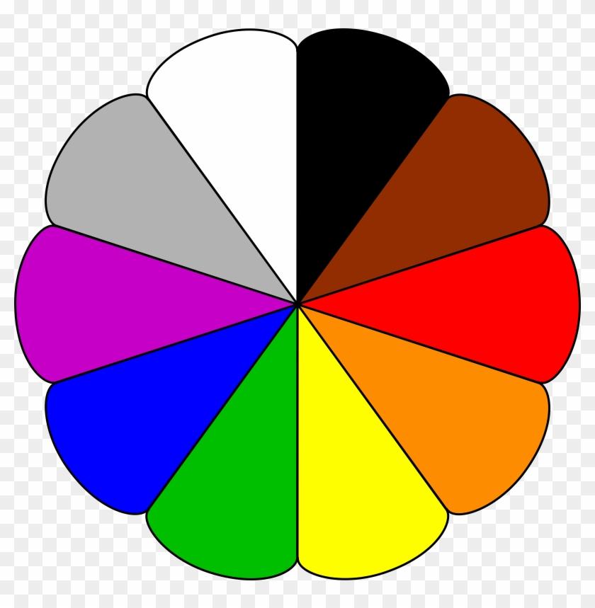 Color Clipart Christmas Tree Clipart - Color Wheel Clip Art #32161