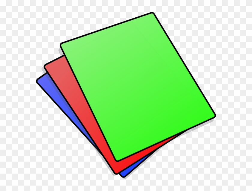 Stack - Coloured Paper Clipart #32185