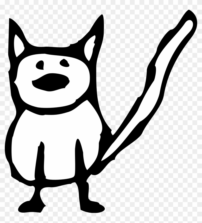 Cat Clip Art - Cartoon Cats Black And White #32199