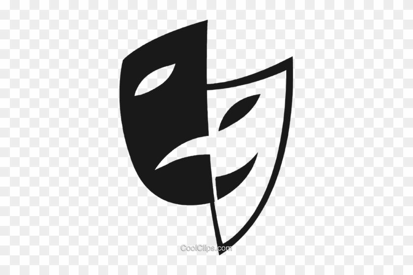 As Máscaras Da Comédia / Drama Livre De Direitos Vetores - Drama Masks #32261
