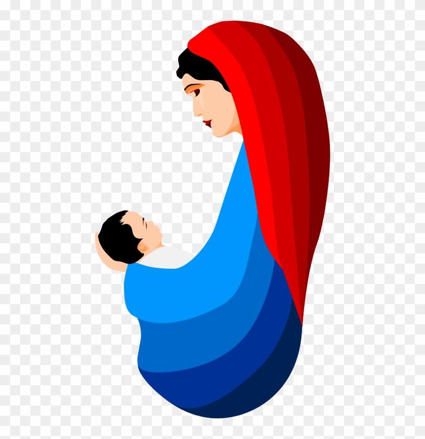 Catholic Christian Christmas Jesus Mary Nativity - Mary With Baby ...