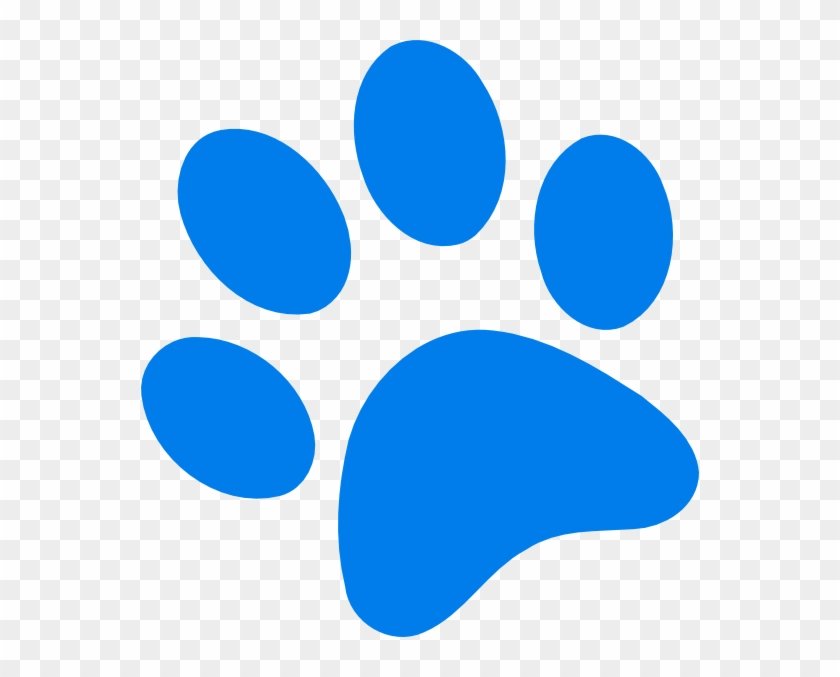 Captivating Paw Print Clipart Blue Clip Art At Clker - Blues Clue Paw Print #32312