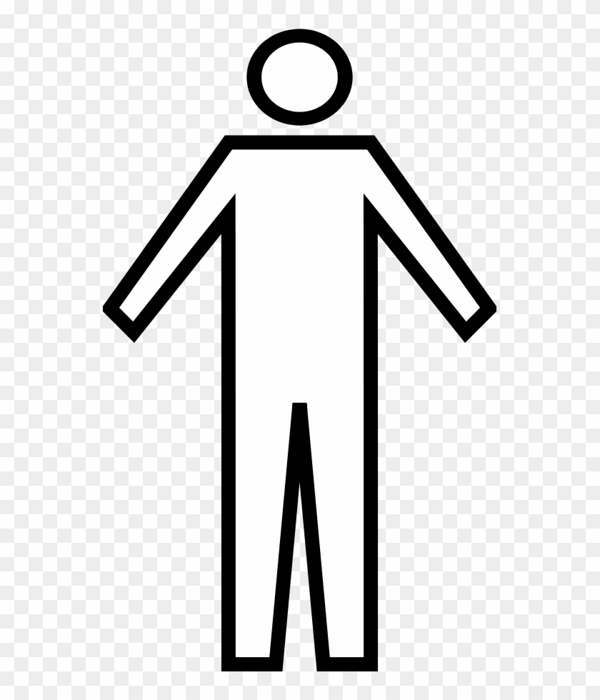 Person Clip Art - Male Bathroom Sign Outline #32319