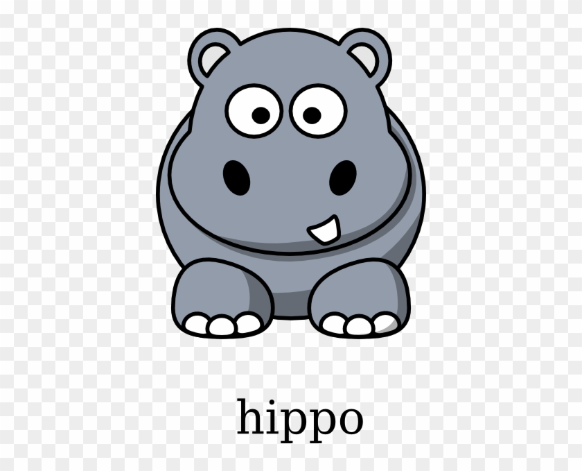 Hippopotamus Clipart - Cartoon Hippo #32320