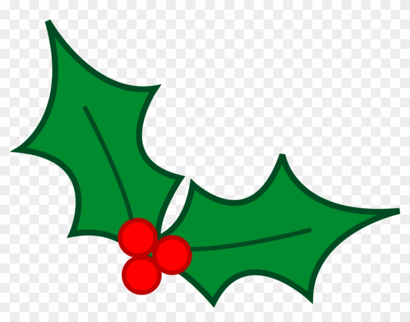 Christmas Clip Art - Christmas Holly To Draw #32344