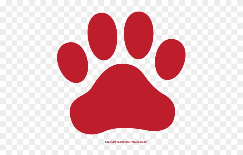 Fresh Clipart Of Paw Prints Dog Paw Print Clip Art - Red Paw Print Clip Art #32371
