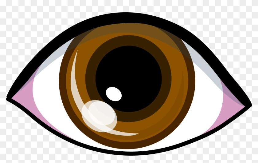 Hairspray Clipart - Cartoon Brown Eye #32384