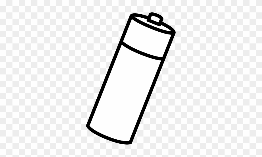 Black And White Battery Clip Art - Battery Coloring #32395