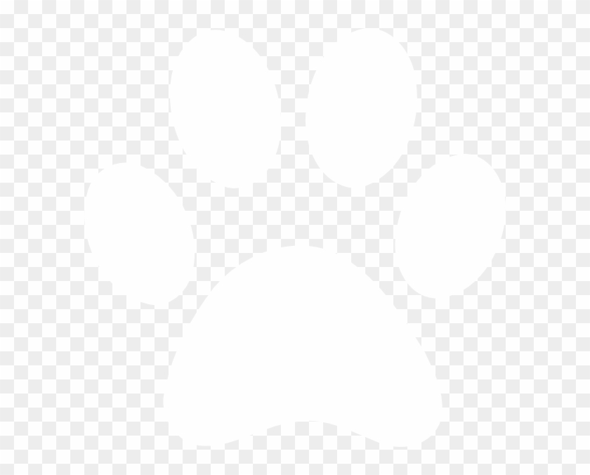 White Paw Print Clip Art White Paw Print Free Download - White Paw Print Transparent #32458