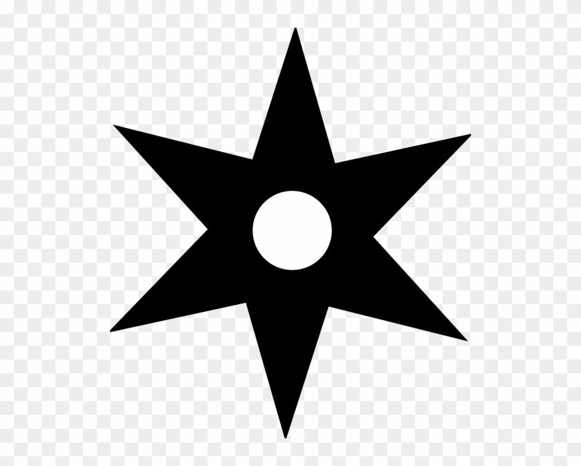 Chinese Star Clip Art - Ninja Elements #32472