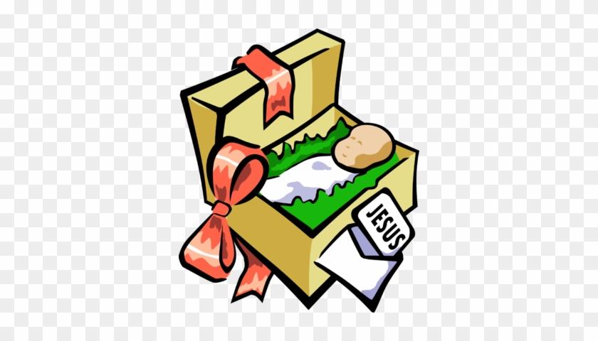 Image Christmas Present Christmas Clip Art - Jesus As A Present #32498